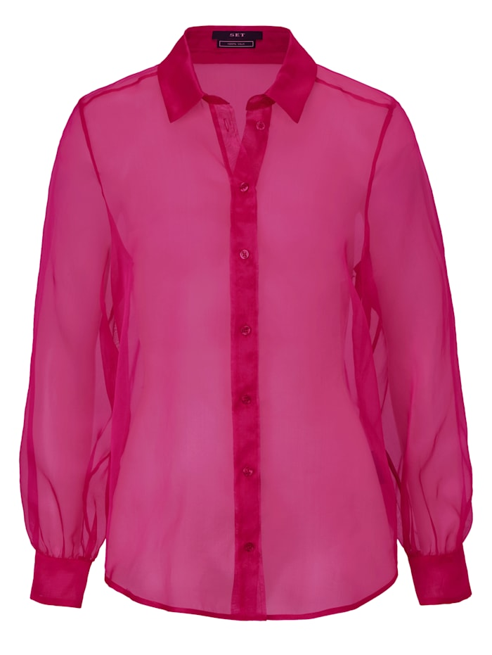 SET Seidenbluse, Pink