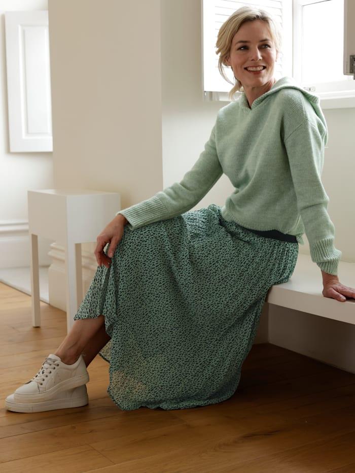 Dress In Sukně v moderním potisku, Šalvějová zelená