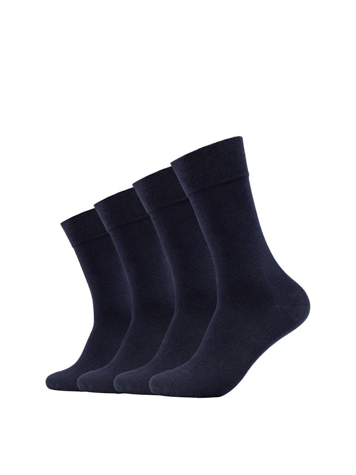 Camano Socken ca-soft 4er Pack mit Bio-Baumwolle, navy