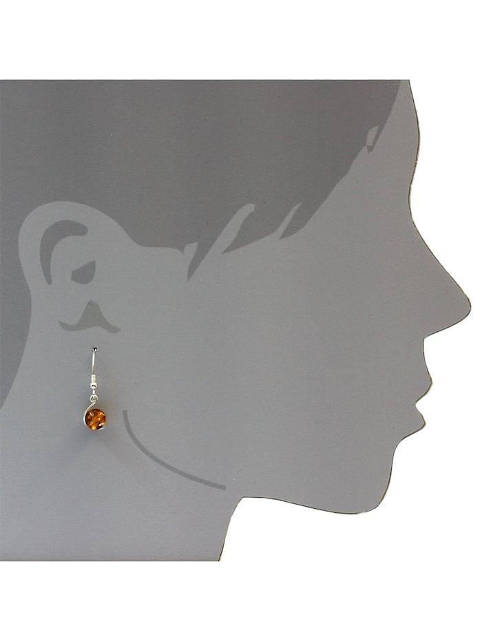 Ohrhänger - Nikola - Silber 925/000 - Bernstein