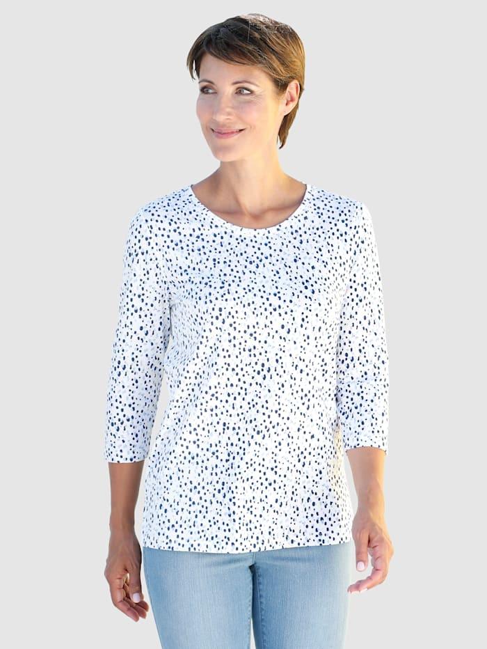 Paola Shirt mit Druck rundum, Weiß