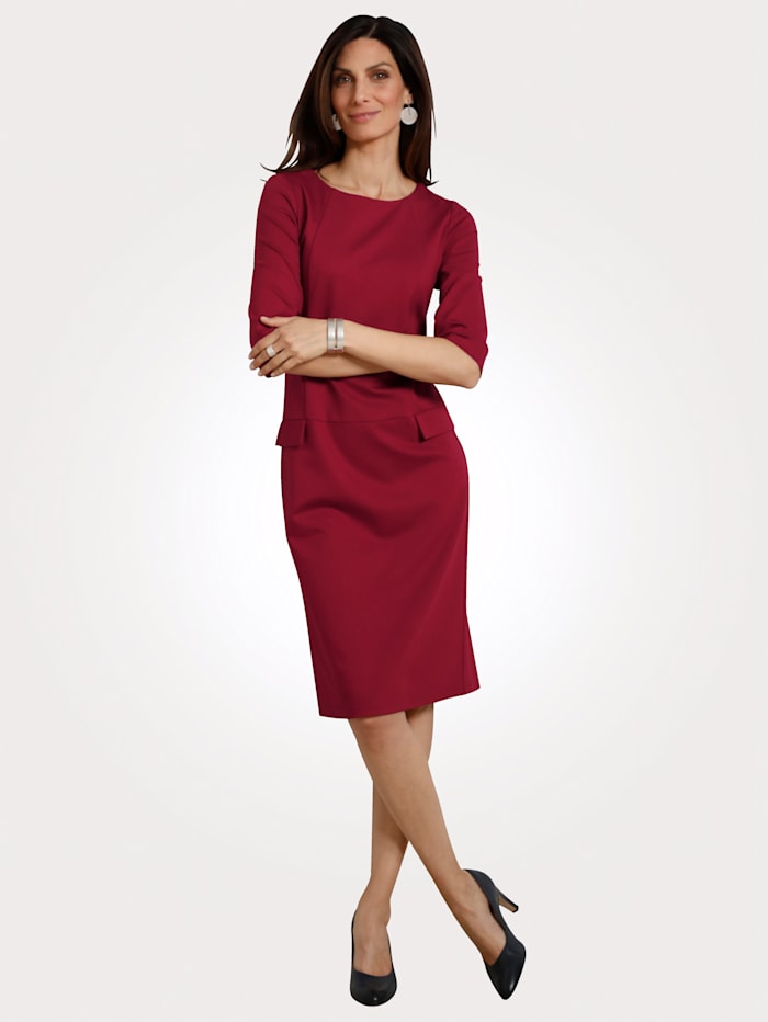 MONA Kleid aus Heavy Jersey, Bordeaux