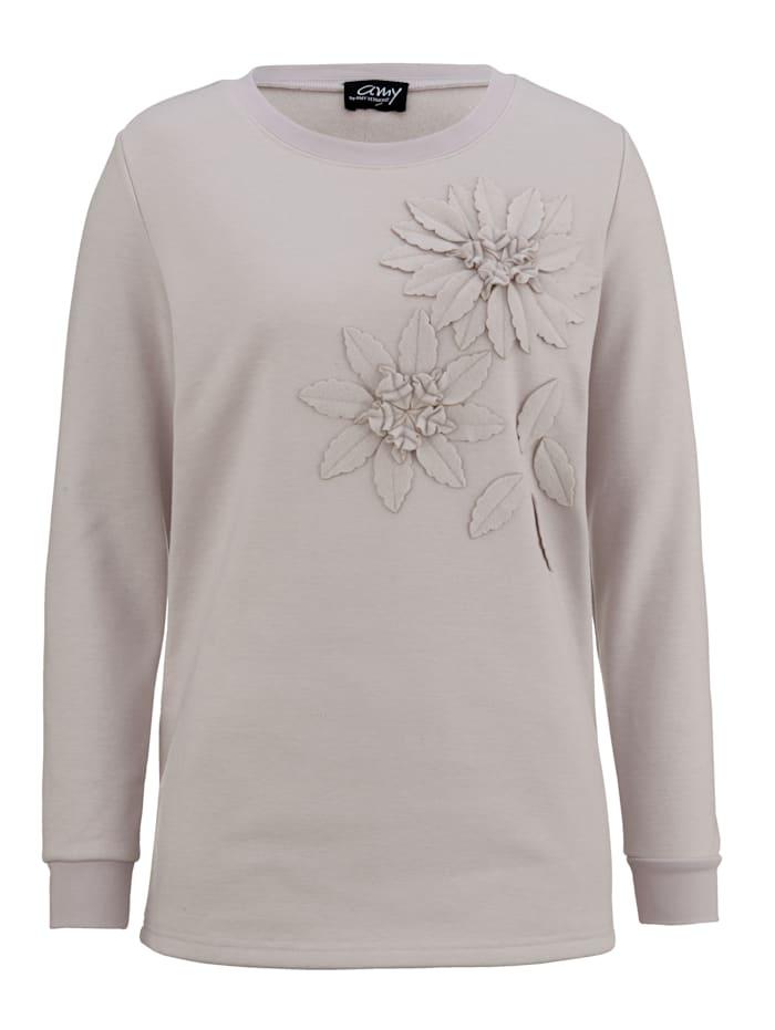 Sweat-shirt avec fleurs sur ledevant