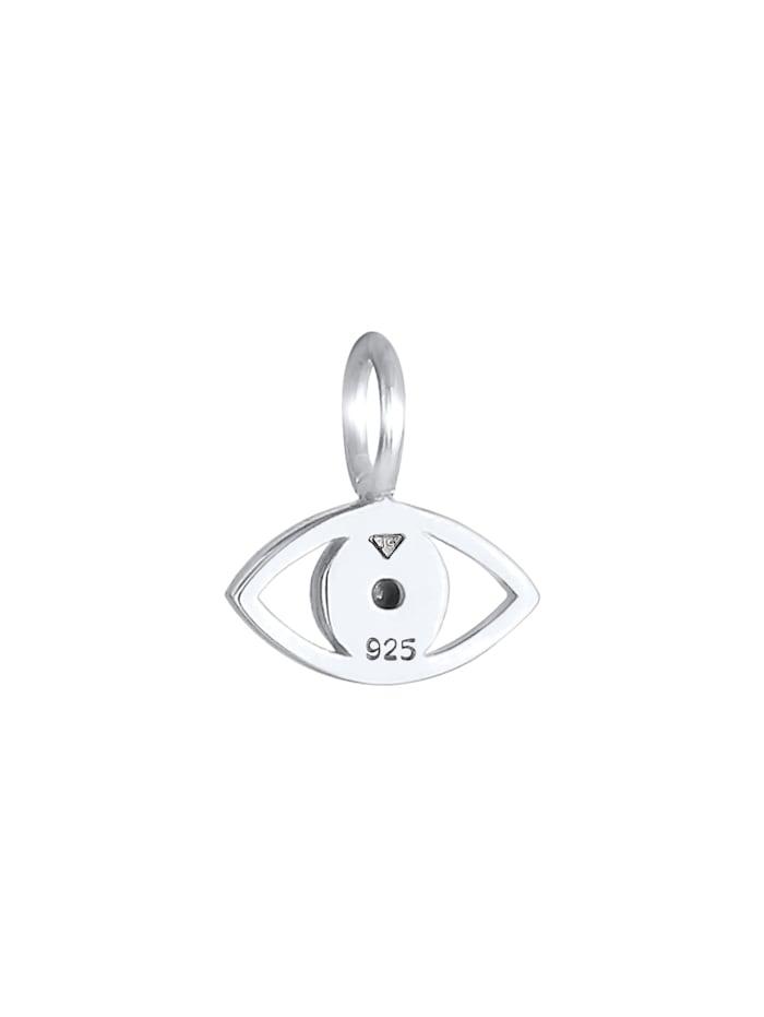 Anhänger Evil Eye Symbol Kristall 925 Silber