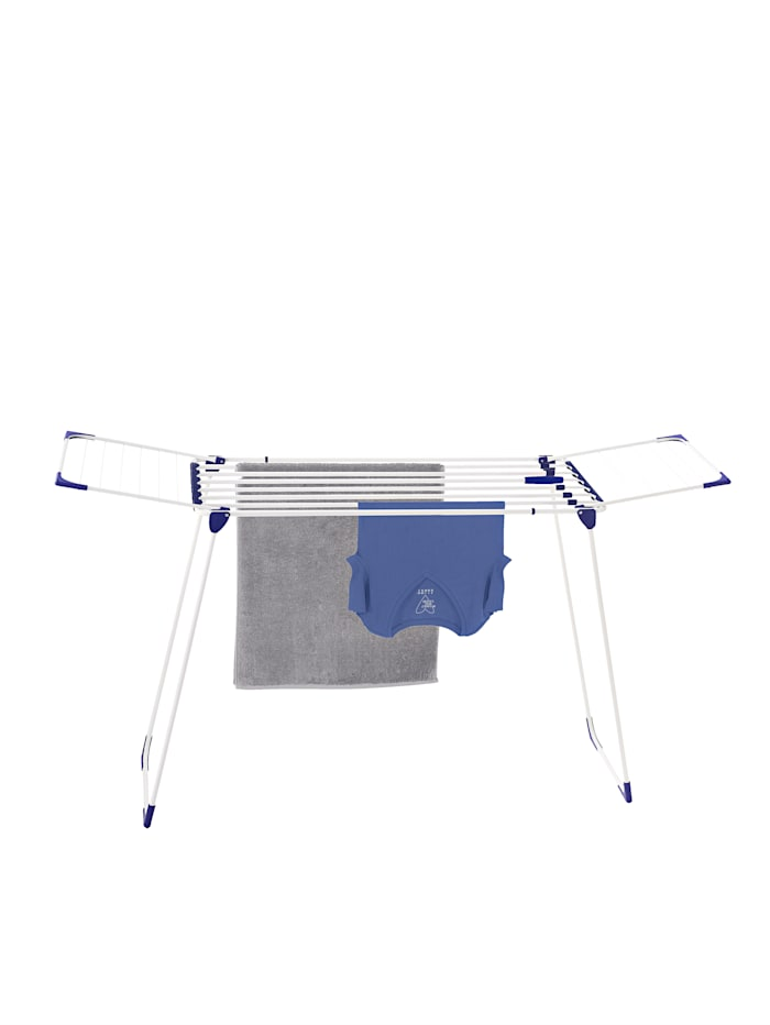 Leifheit Étendoir à linge Leifheit 'Classic Extendable 230 Solid', Blanc/Bleu