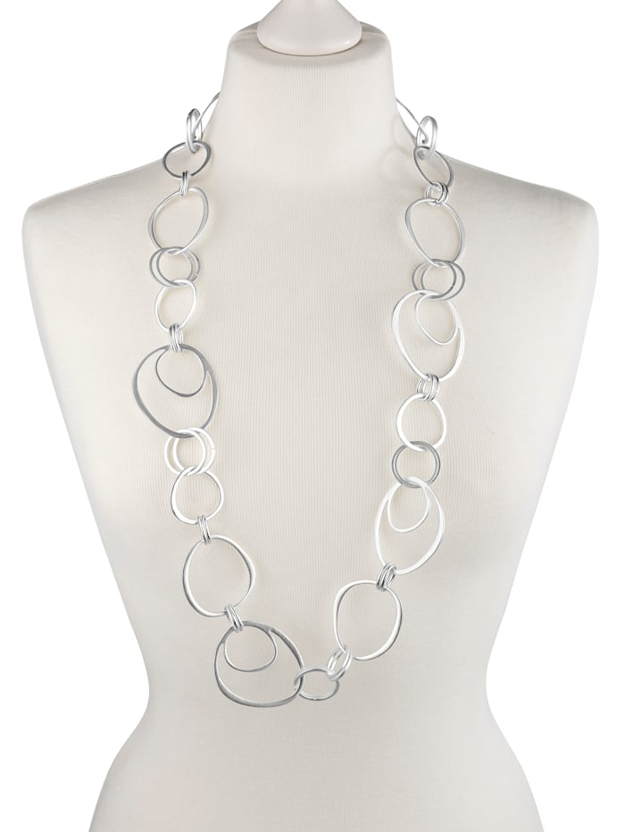 KLiNGEL Halskette mit Elementen, Silberfarben
