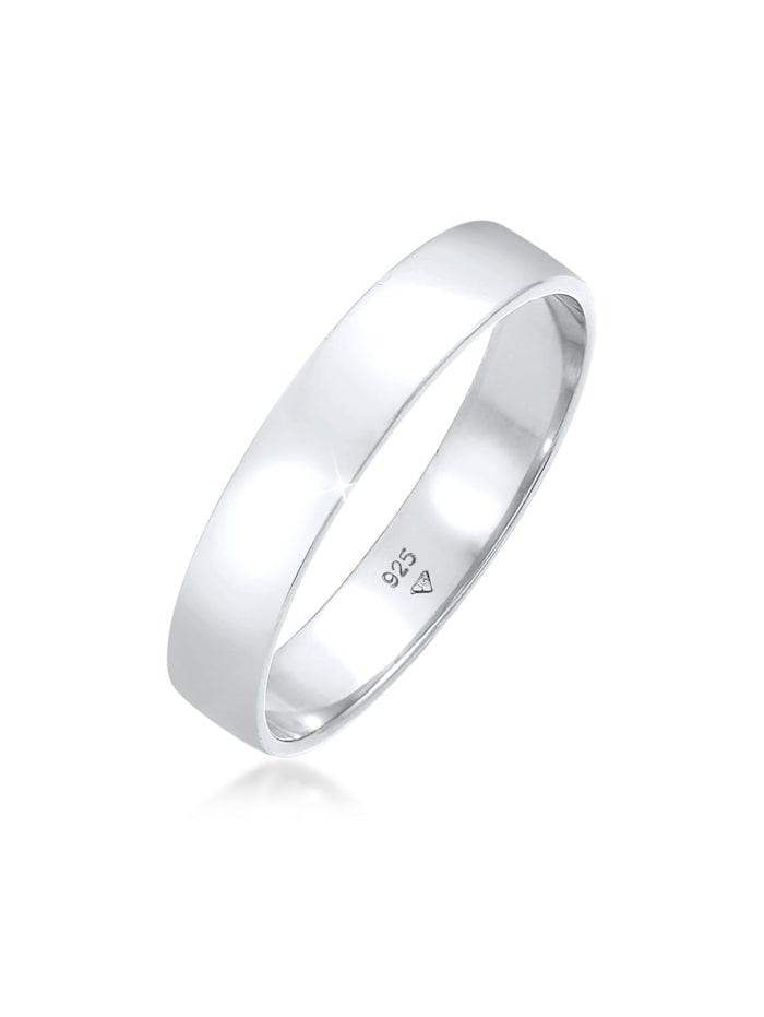 Kuzzoi Ring Bandring Herrenring Freundschaftsring 925 Silber, Silber