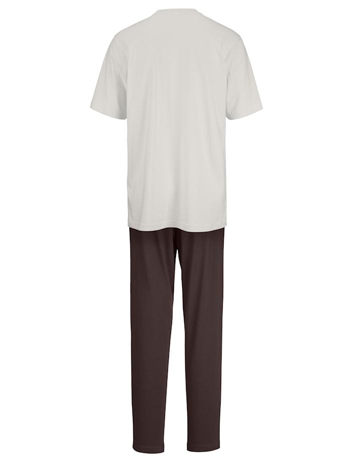 Pyžama s moderným motívom potlače 2 kusy