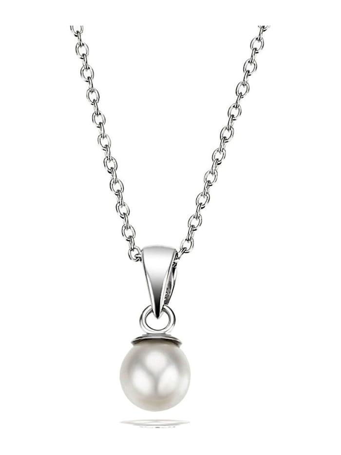 Goldmaid Collier Halskette Perlkette 925 Sterlingsilber Zuchtperle, weiß