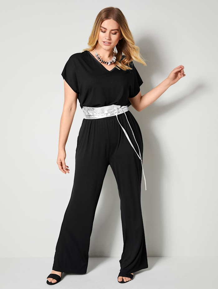 Sara Lindholm Jumpsuit in comfortabel model, Zwart