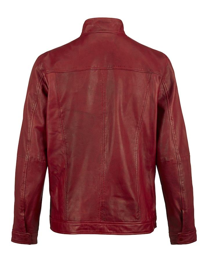 Veste en cuir avec ajours mode