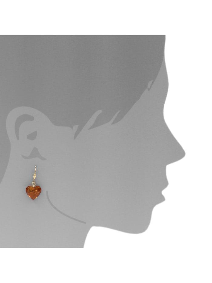 Ohrhänger - Herz 14 mm - Gold 333/000 -