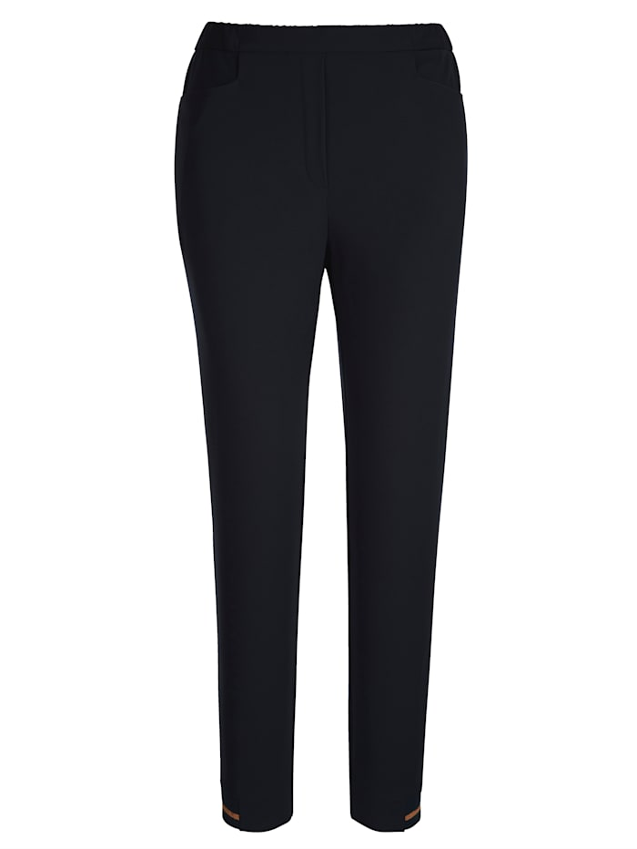 Cropped jersey trousers with contrast detailing