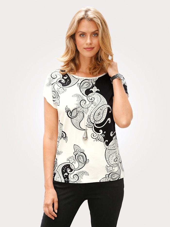 T-shirt imprimé à imprimé cachemire