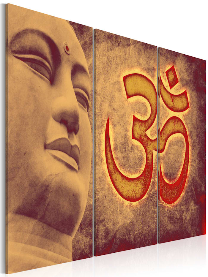 artgeist Wandbild Buddha - Symbol, Kupfer
