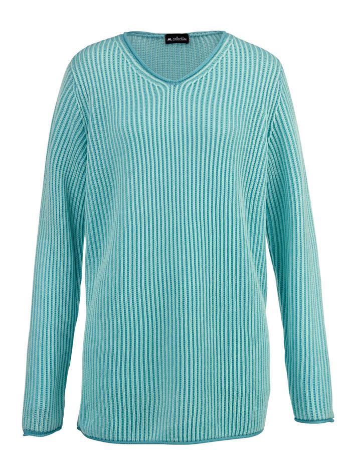 Pullover kontrastfarben gestrickt