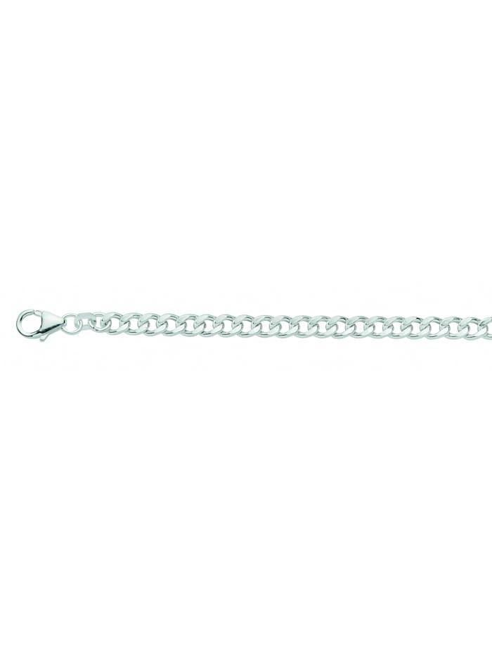 1001 Diamonds Damen Silberschmuck 925 Silber Flach Panzer Armband 19 cm Ø 4,8 mm, silber