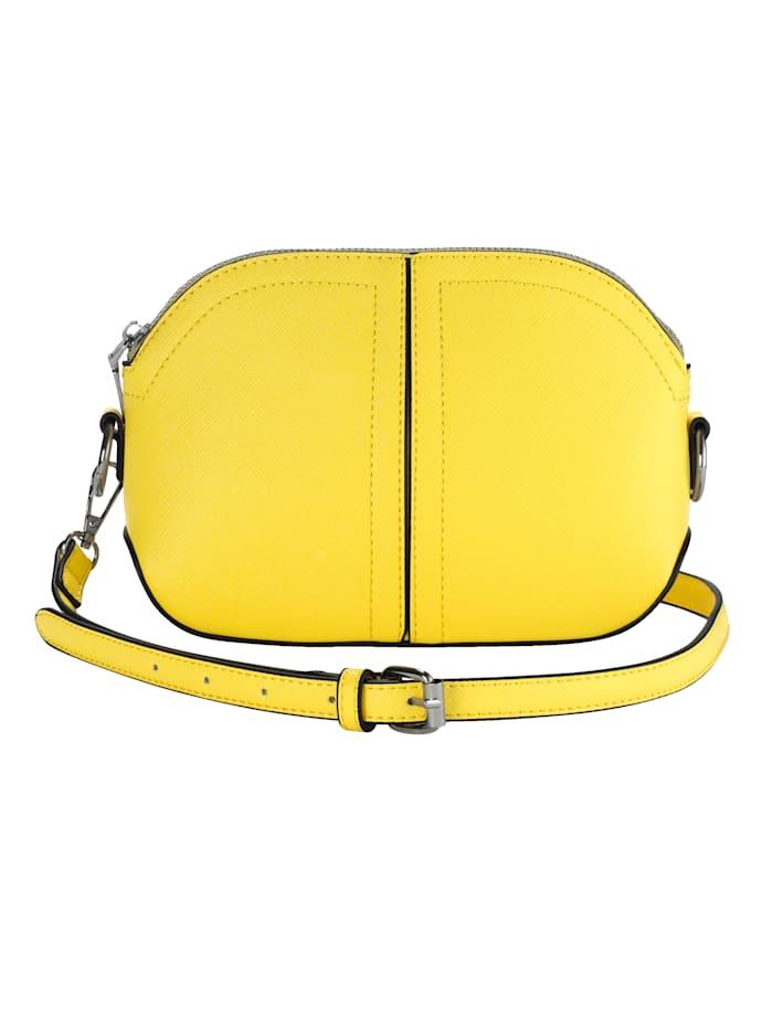 Collezione Alessandro Schoudertas van softmateriaal met structuur, geel