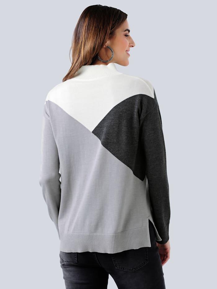 Pulovr v Colour-Blocking designu
