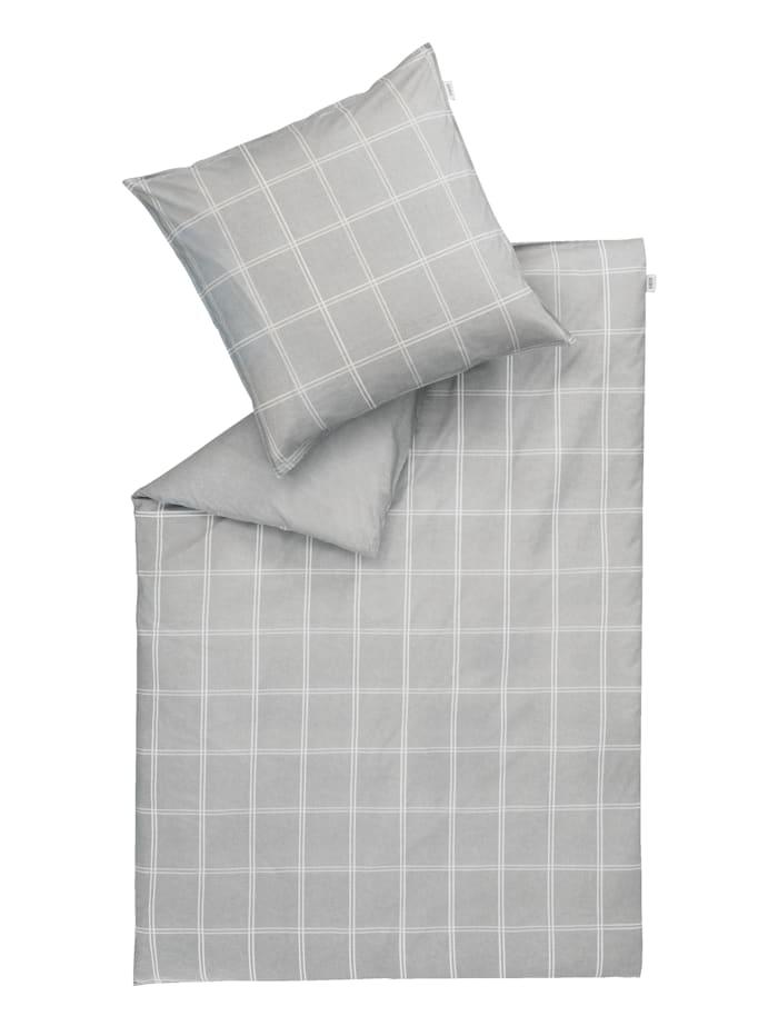 Schöner Wohnen Kollektion Renforce Bettwäsche 'Square' 2tlg., Grau