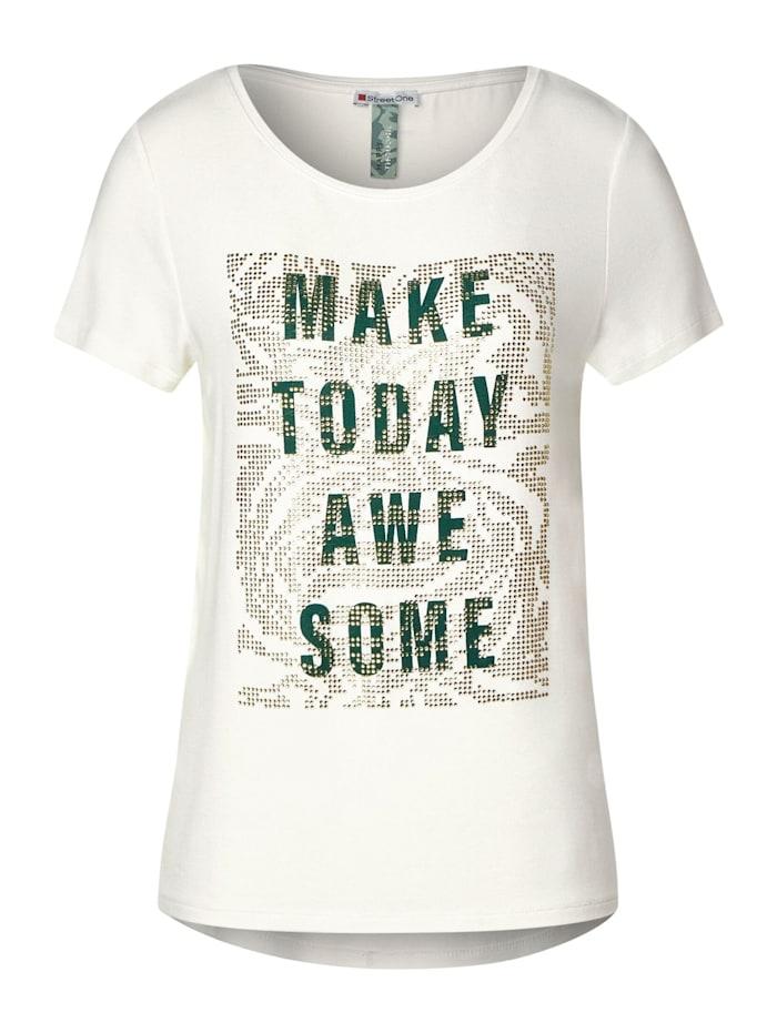 Street One T-Shirt mit Frontprint, off white