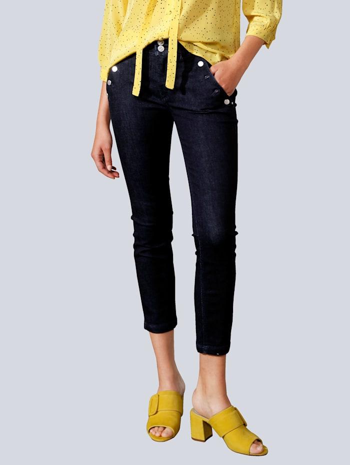 MAC Jeans mit großen Knöpfen, Dark blue