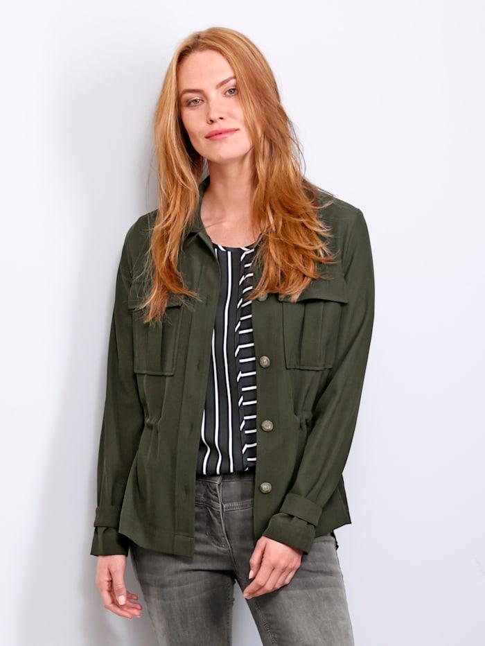 Laura Kent Jasje in trendy model, Donkergroen
