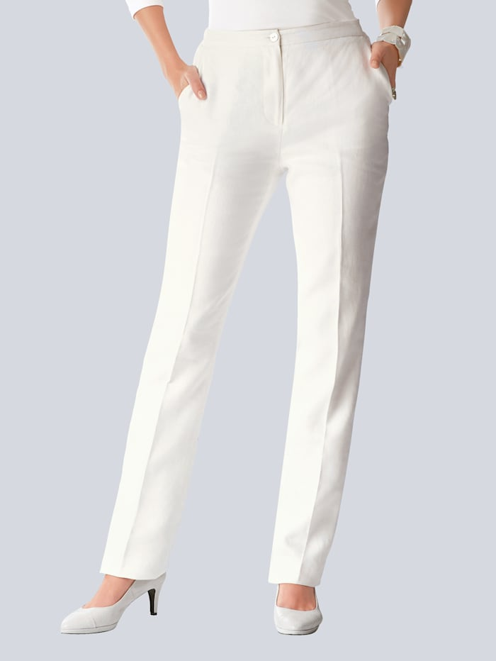 Straight leg linen trousers in a classic cut