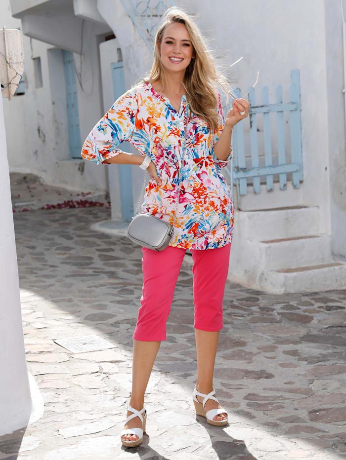 MIAMODA Tunique à effet usé, Multicolore