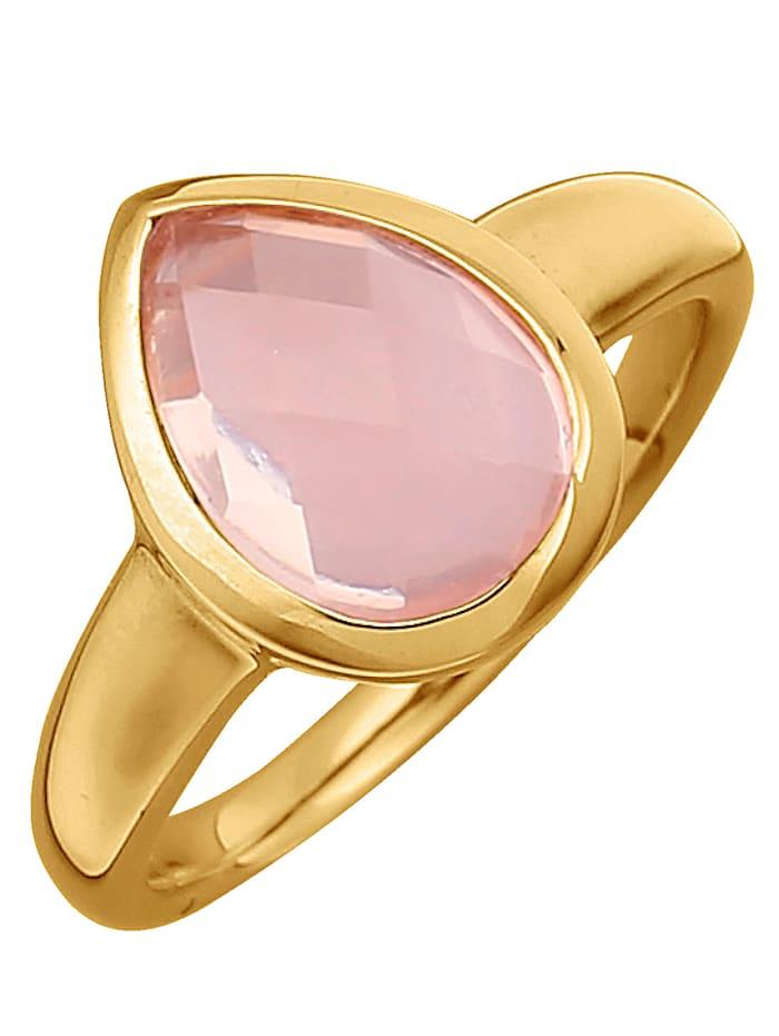Jamelli Bague à quartz rose, Rose