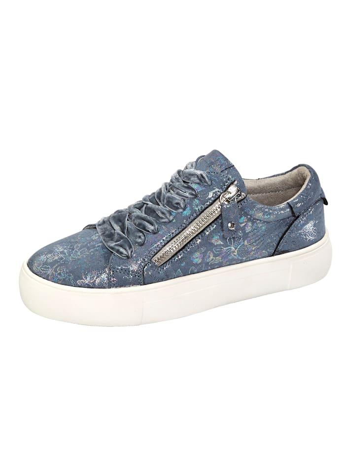 Liva Loop Sneakers à plateau avec glissière côté, Bleu