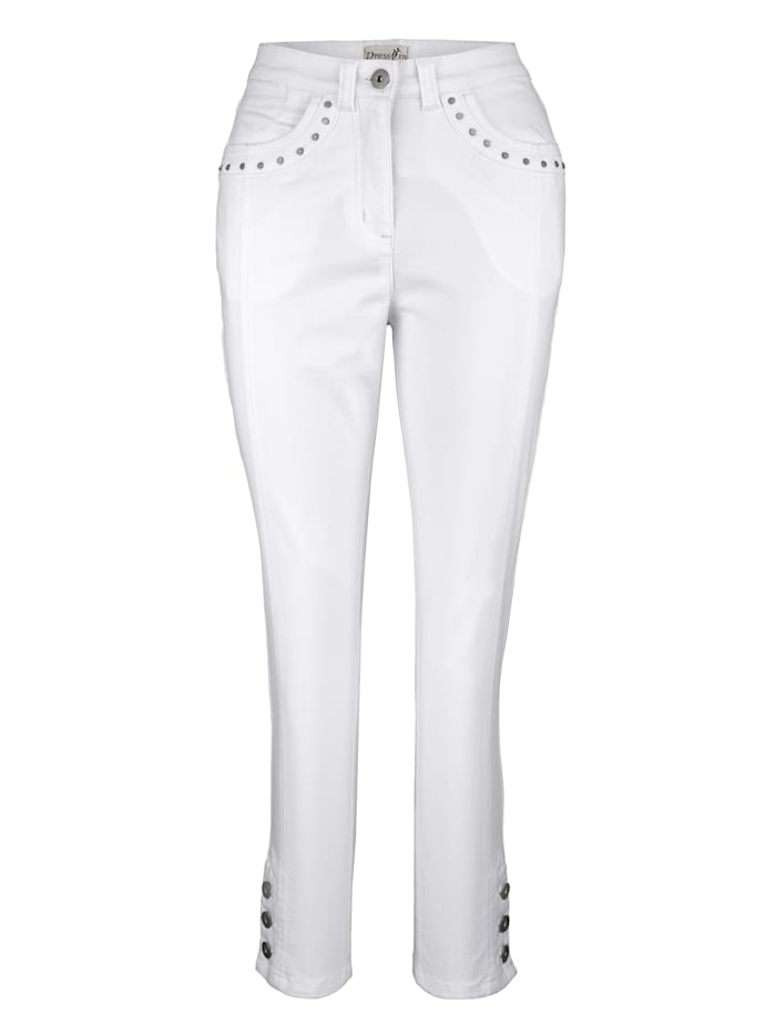 Dress In 3/4 Hose Paola Slim, Weiß
