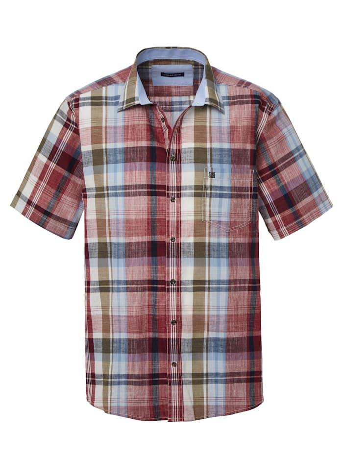 BABISTA Skjorta i somrigt material, Bordeaux/Olivgrön/Ljusblå