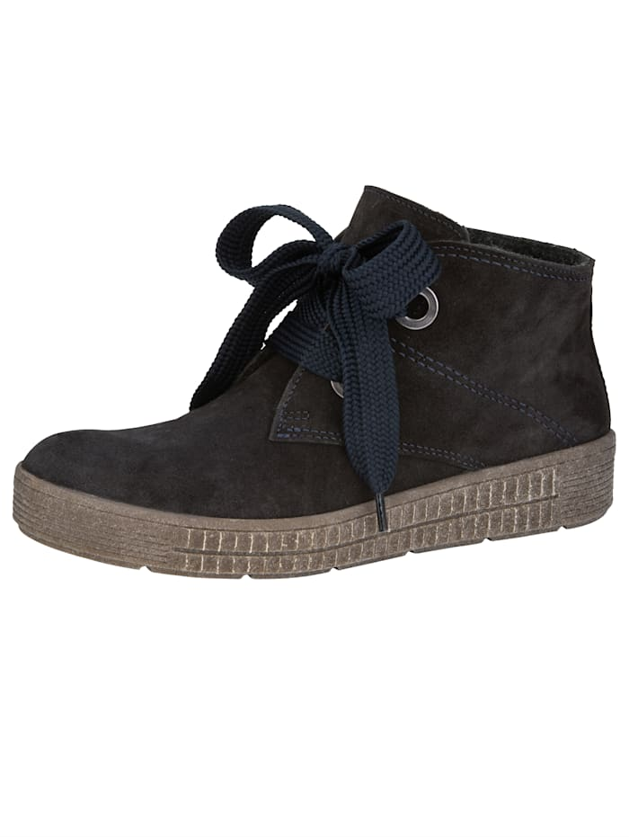 ACO Schnürstiefelette mit auswechselbarem Fußbett, Marineblau