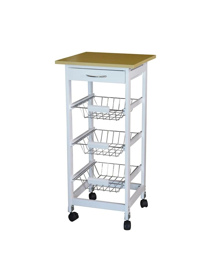 HTI-Line Küchenwagen S Blanca, Weiß