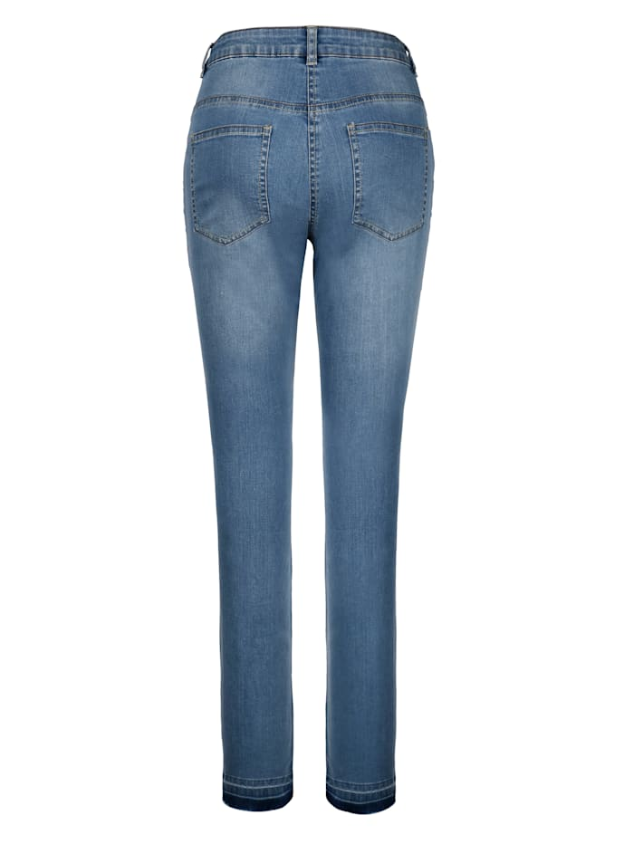 Jeans Laura Slim mit modischer Waschung am Saum