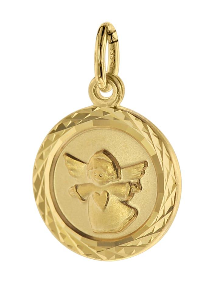 trendor Kinder-Anhänger Engel 333 Gold/8 Karat 12 mm, Goldfarben