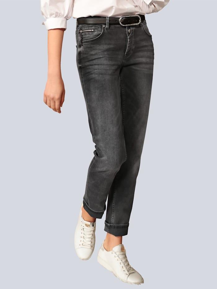Rosner Jeans mit Saum zum Umschlagen, Grau