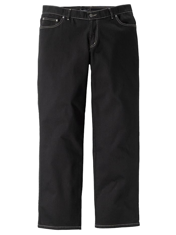 Men Plus Jeans in 5-pocketmodel, Black