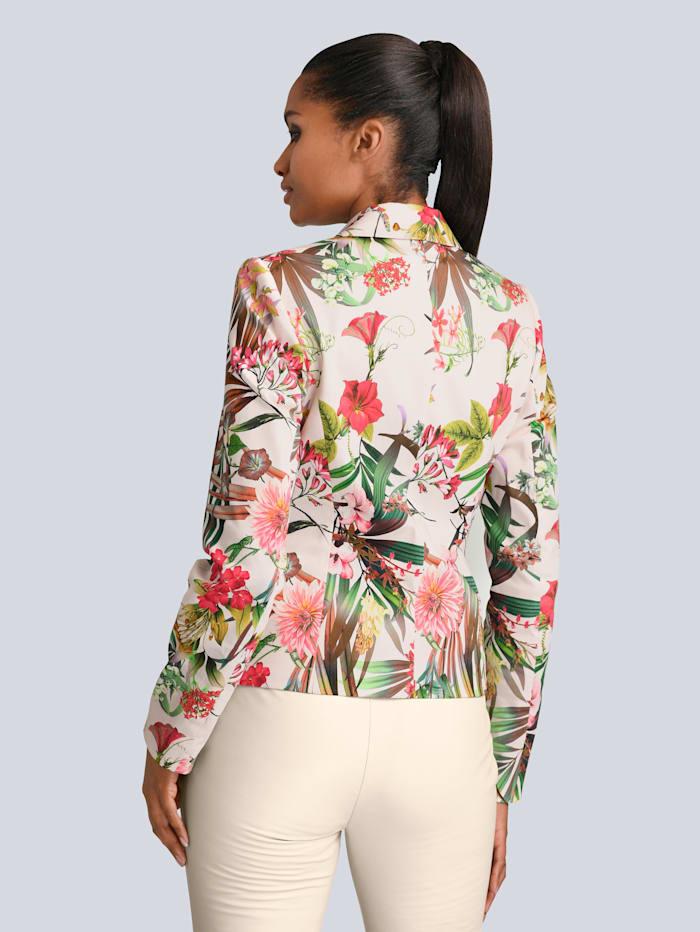 Blazer in edlem floralem Print