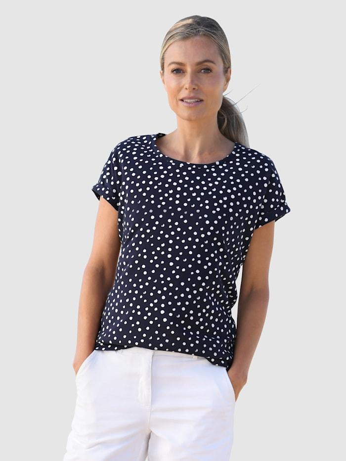 basically you Shirt aus reiner Baumwolle, Marineblau/Weiß