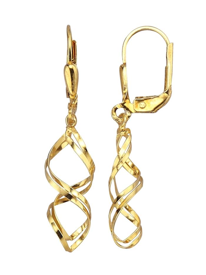 Boucles d'oreilles en or jaune 375, Jaune