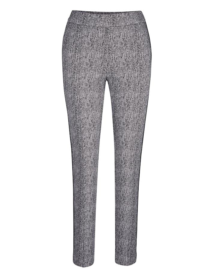 Pantalon à passepoils allongeantes