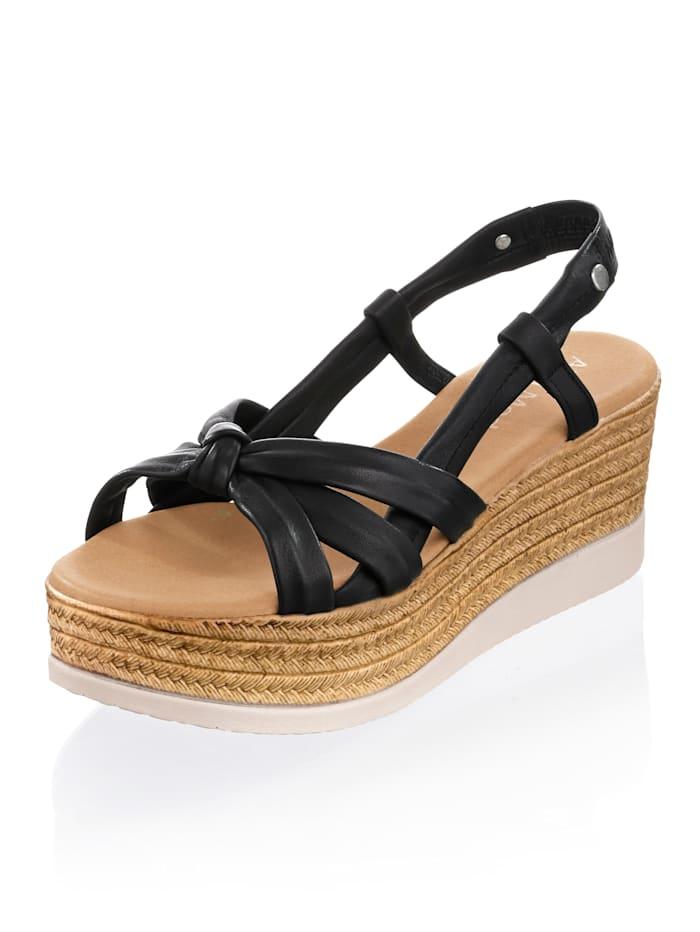 Alba Moda Sandaaltje met mooie bandjes, Zwart