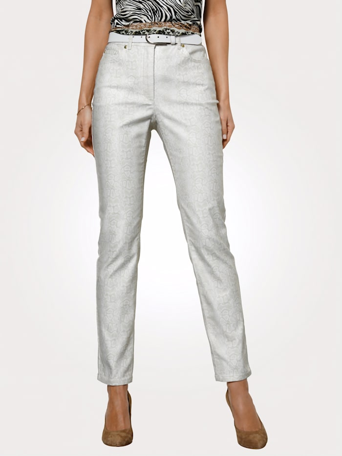 MONA Trousers with a hint of stretch for added ease and comfort, Ecru/Beige