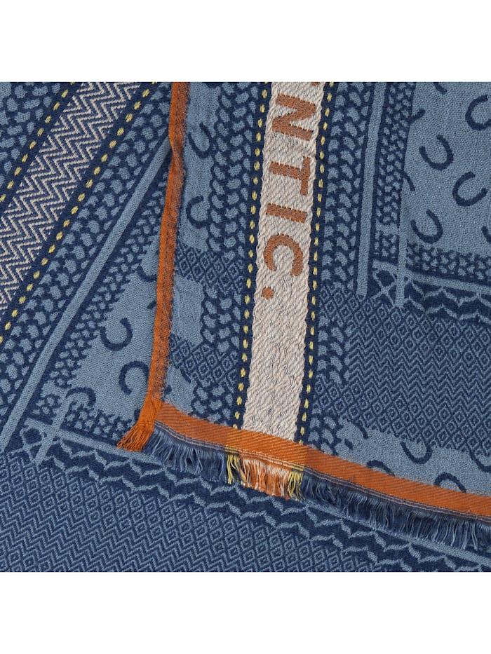 Logo-Schal aus Viskose und Wolle