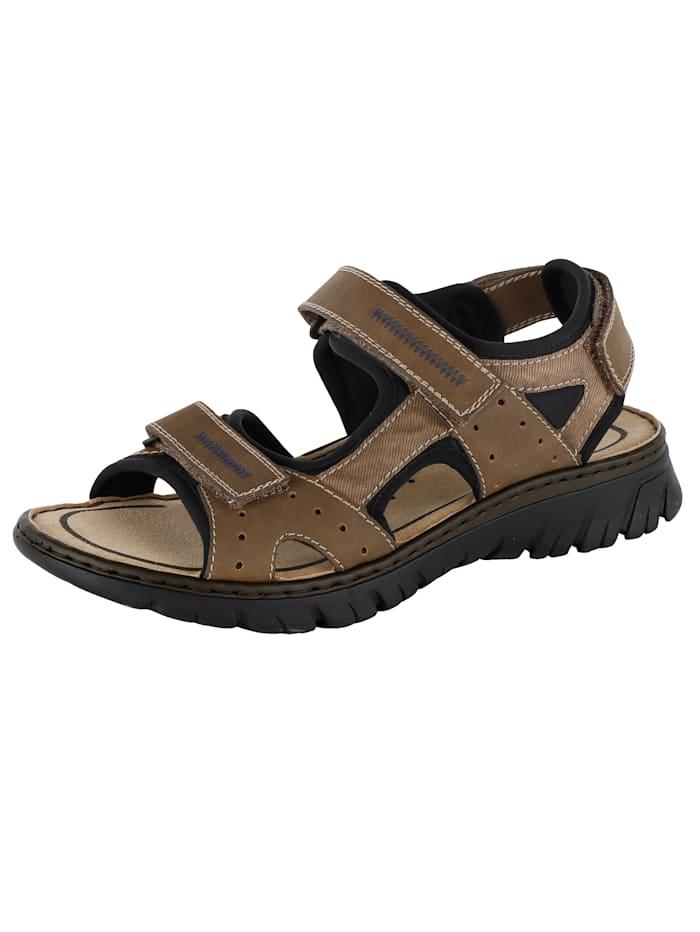 Sandaal met modieuze sierstiksels