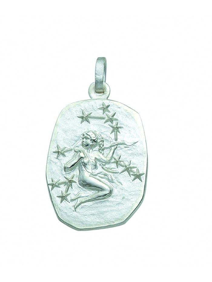 1001 Diamonds Damen & Herren Silberschmuck 925 Silber Sternzeichen Anhänger Jungfrau, silber