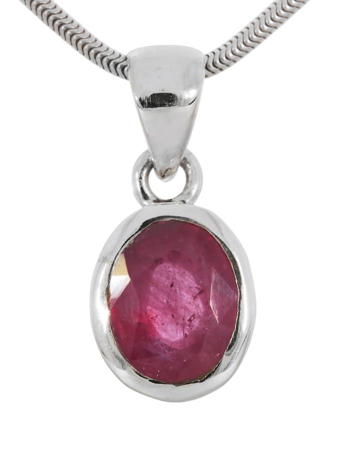 1001 Diamonds Damen Schmuck Edelstein Rubin Anhänger 925 Silber rot, rot