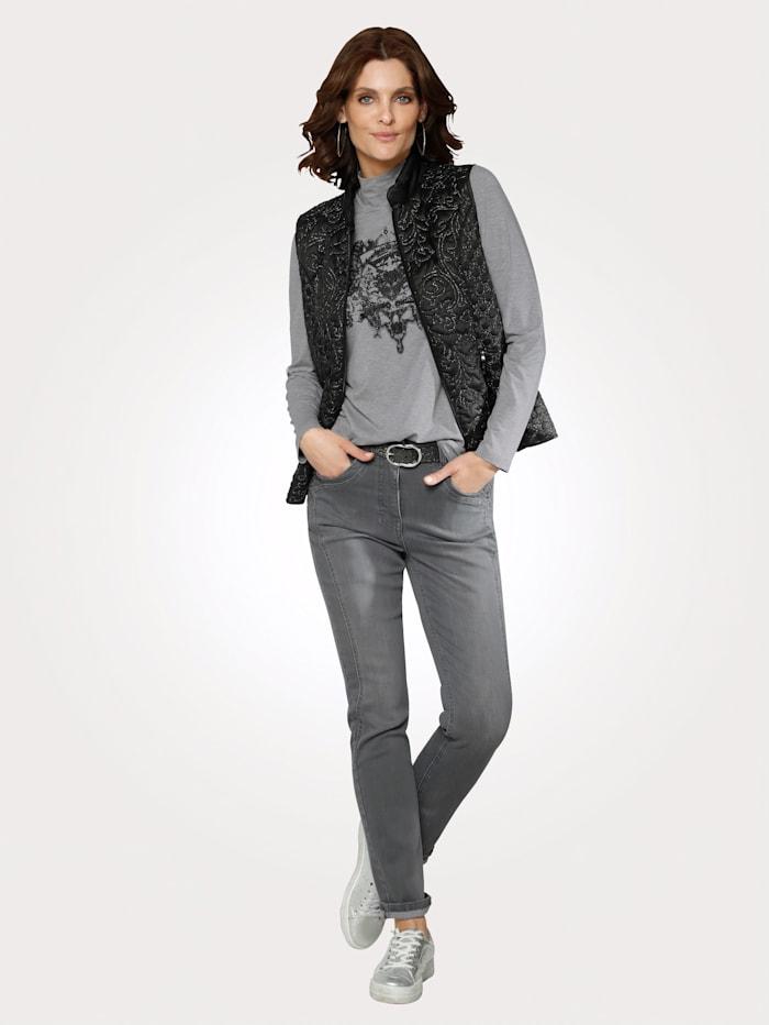 Jeans med strass ved lommene